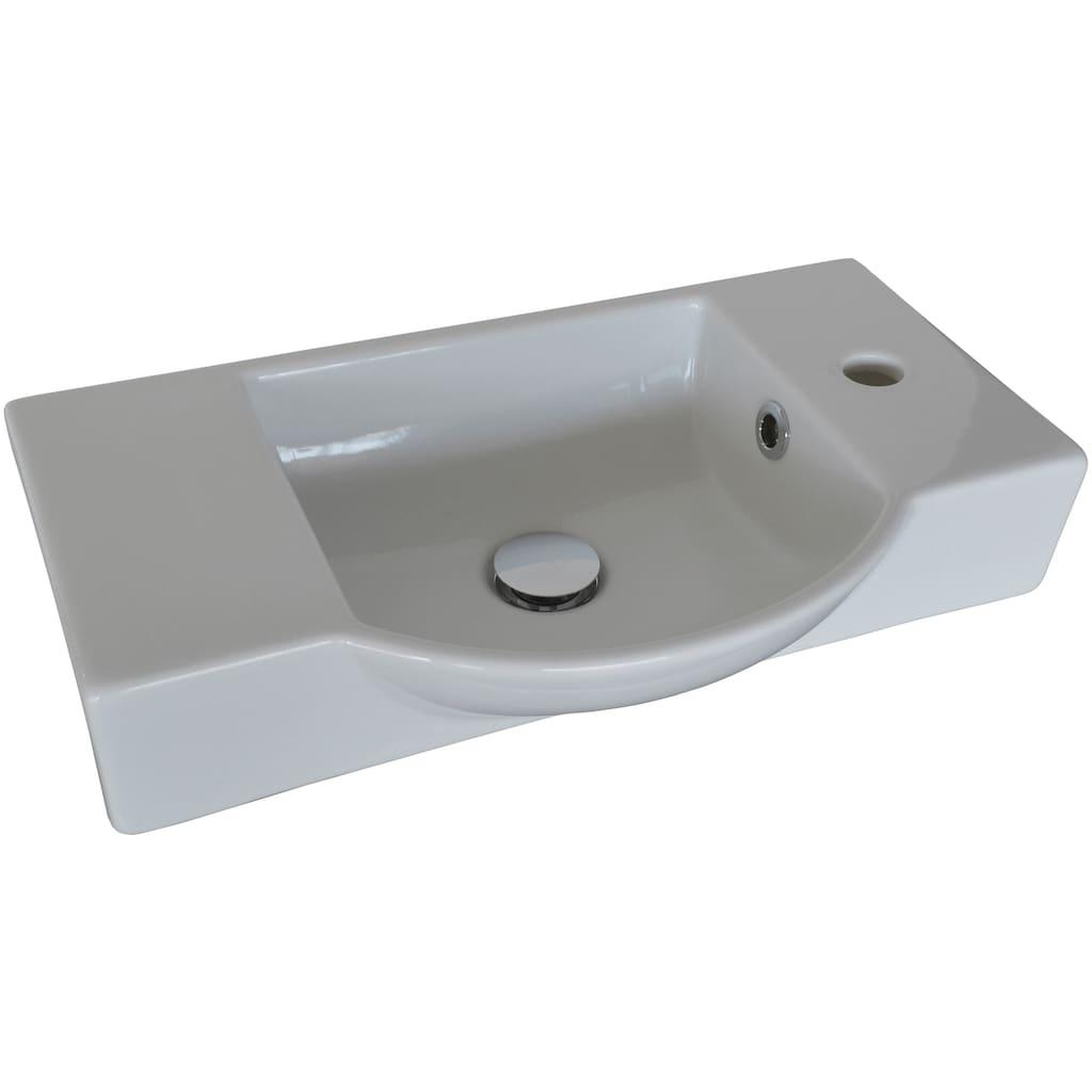FACKELMANN Waschbecken »Gäste-WC«, Keramik, Breite 54,5 cm, für Gäste-WC
