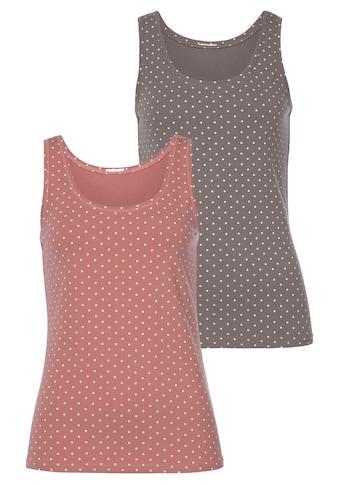Vivance Tanktop, (2er-Pack), aus elastischer Baumwoll-Qualität kaufen