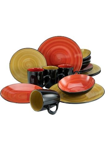 my home Kombiservice »Matea«, (Set, 16 tlg.), handgemaltes Spiraldekor kaufen