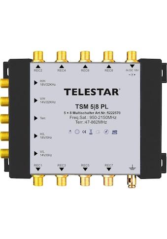 TELESTAR SAT-Verteiler »TSM 5/8 PL«, zum Anschluss von bis zu 8 SAT-Receivern kaufen