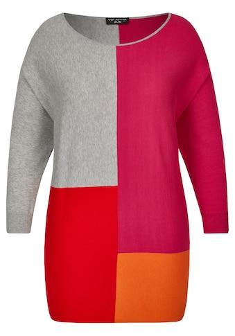 VIA APPIA DUE Moderner Pullover im Color - Blocking - Stil Plus Size kaufen