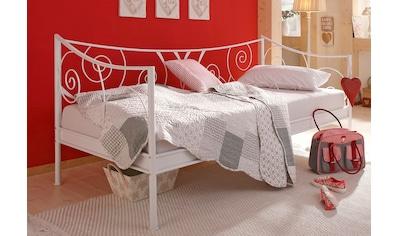 Home affaire Daybett »Princess«, aus schönem Metall und tollen Verschnörkelungen an den Bettseiten, in 2 verschiedenen Farben kaufen
