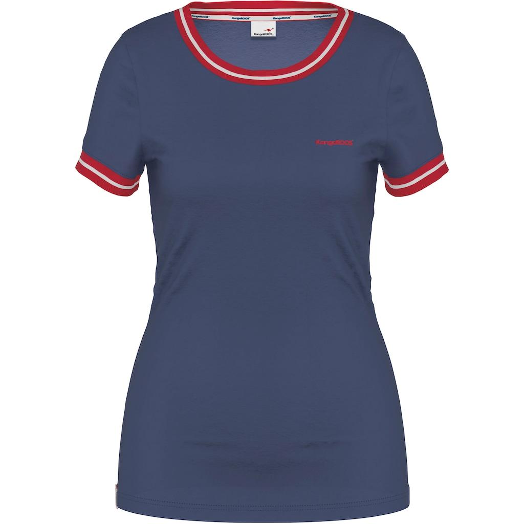 KangaROOS T-Shirt, mit modischen Rippenbünchen
