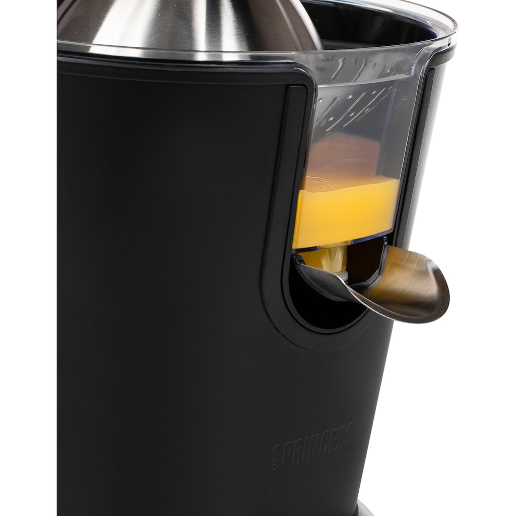 PRINCESS Entsafter »Black Steel 201853 Sonderedition«, 160 W, Antitropf-Funktion