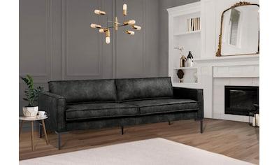 Leonique 3-Sitzer »Drace«, inklusive Rückenkissen, geradliniges Design, Breite 216 cm kaufen