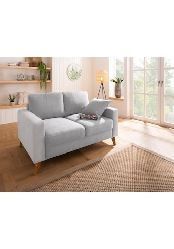 Home affaire 2-Sitzer »Stanza«, incl. 1 Zierkissen, Keder, B/T/H: 151/93/89 cm, moderne Holzfüße kaufen