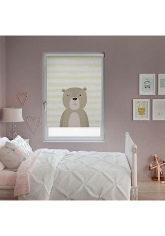Lüttenhütt Seitenzugrollo »Bär«, verdunkelnd, ohne Bohren, im Fixmaß kaufen