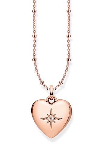 THOMAS SABO Herzkette »D_KE0035-923-14-L45v, Herzmedaillon rosé«, mit Diamanten kaufen
