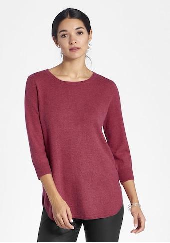 Peter Hahn 3/4 Arm-Pullover »aus Seide-Kaschmir«, mit abgerundetem Saum kaufen