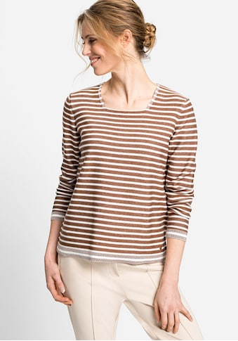 Olsen Streifenpullover, mit Karree Ausschnitt kaufen