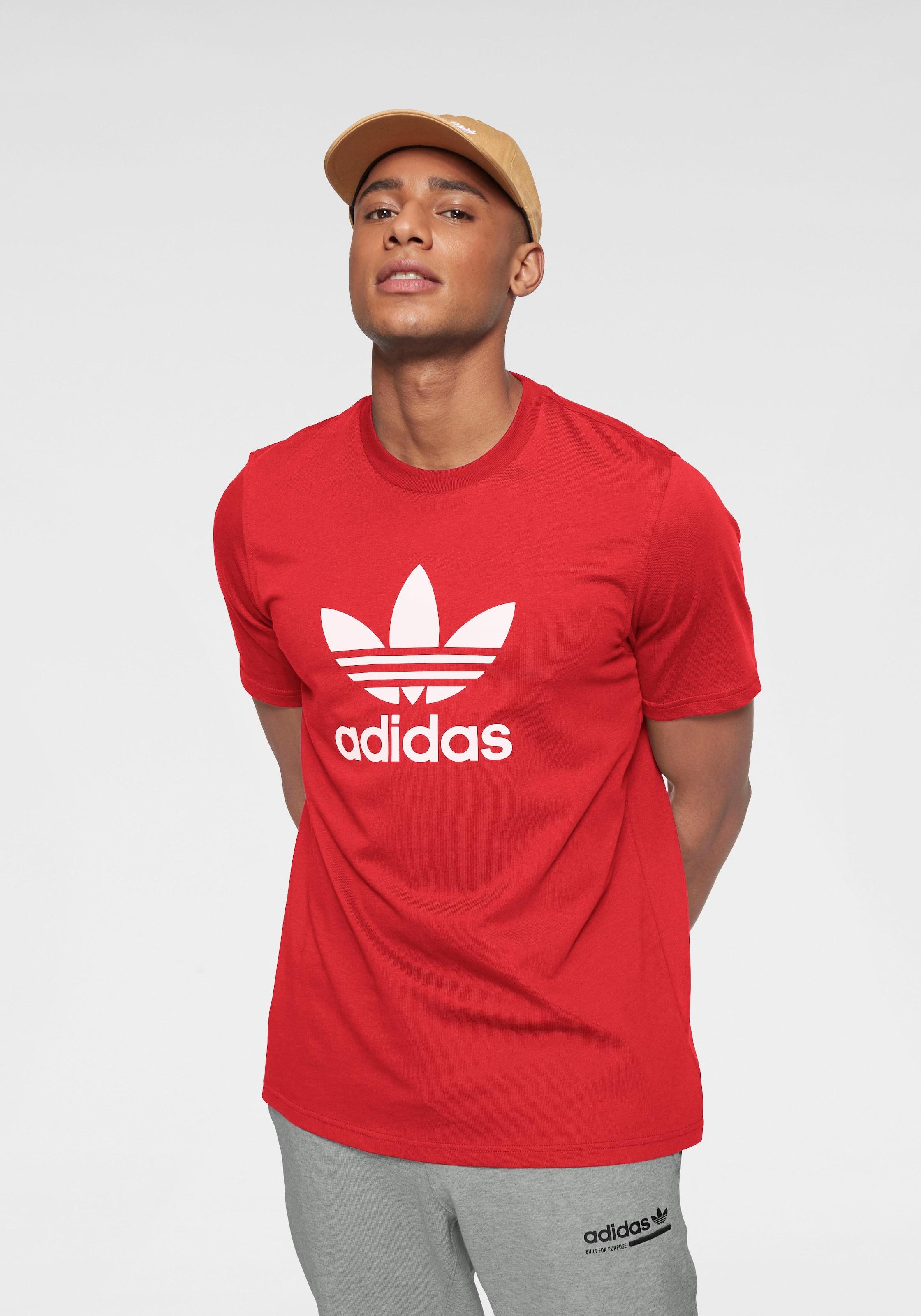 ADIDAS Jungen T Shirt Big Trefoil rot | 140