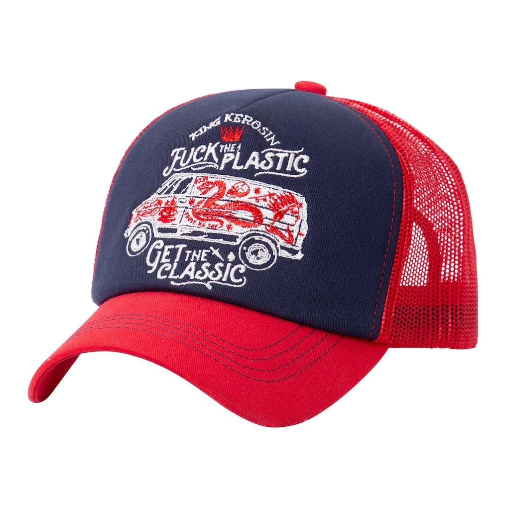 KingKerosin Trucker Cap, mit großflächiger Stickerei