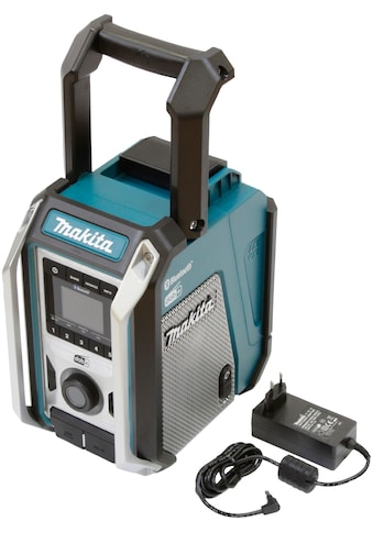 Makita Baustellenradio »DMR115«, (Bluetooth FM-Tuner-Digitalradio (DAB+) ), 12V, Bluetooth-Radio mit IP65-Gehäuseschutzklassifizierung. kaufen