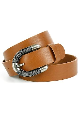 Anthoni Crown Ledergürtel, mit aufwendiger Schmuck-Schließe in Used-Optik kaufen