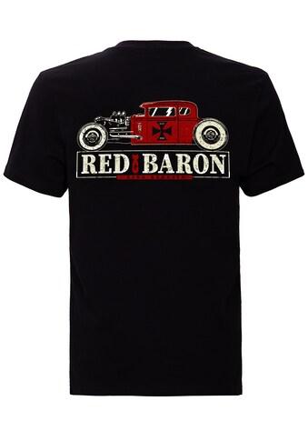 KingKerosin Print-Shirt »Red Baron«, im Retro mit Back-Print kaufen