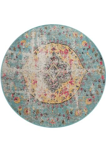 Paco Home Teppich »Artigo 401«, rund, 4 mm Höhe, Kurzflor, Vintage Design, In- und Outdoor geeignet, Wohnzimmer kaufen