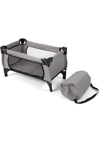 CHIC2000 Puppenbett »Deluxe, melange grau«, mit Tragetasche kaufen