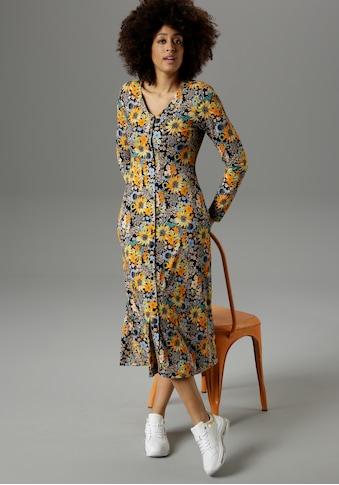 Aniston SELECTED Jerseykleid, im farbenfrohen Blumendruck - NEUE KOLLEKTION kaufen