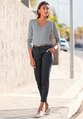 Vivance V-Ausschnitt-Pullover, in taillierter Form kaufen