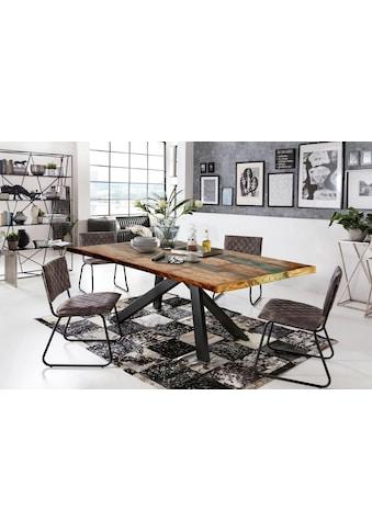 SIT Esstisch »Tops&Tables«, mit bunter Altholzplatte, Shabby Chic, Vintage kaufen
