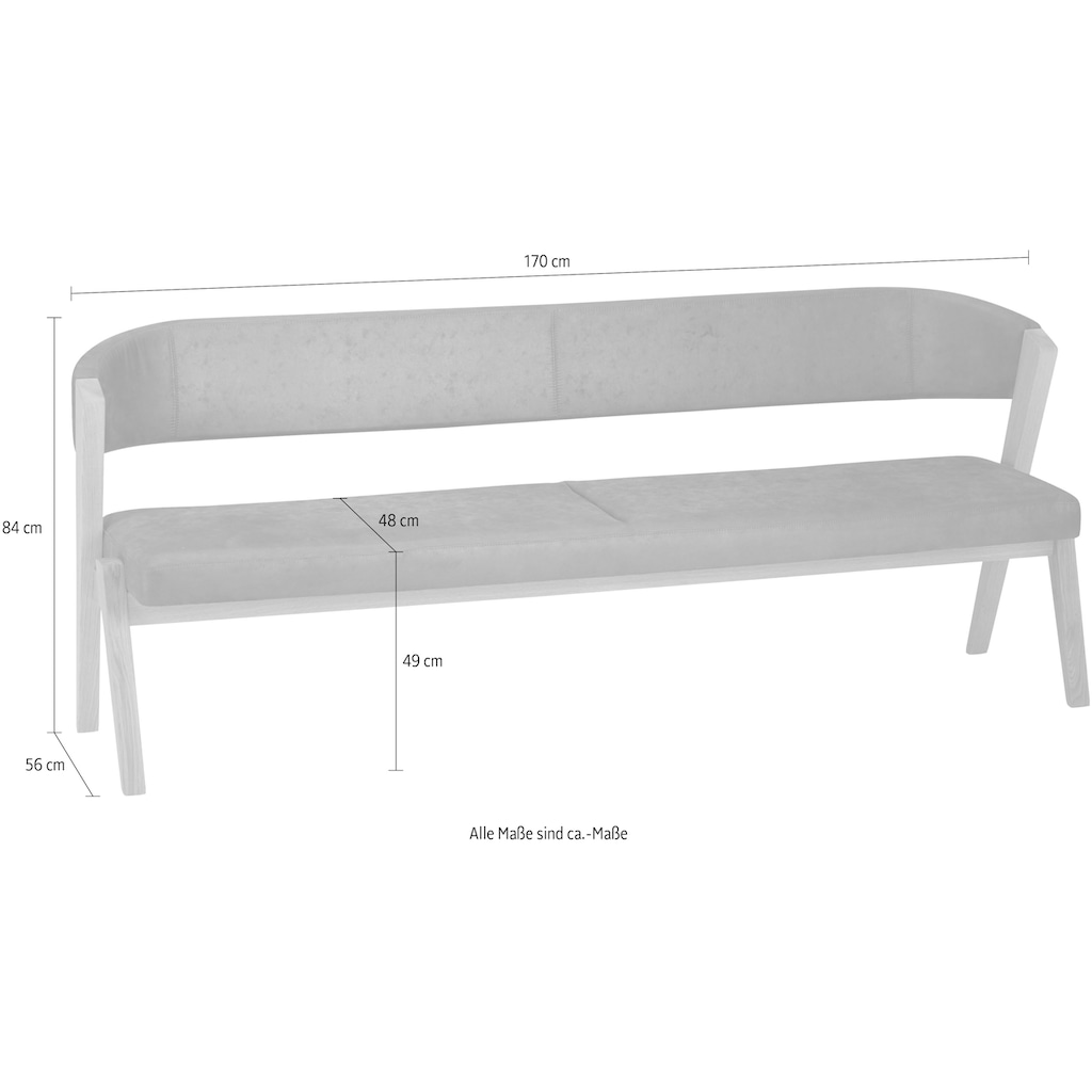 SCHÖSSWENDER Sitzbank »Birds«, modernes Design, Gestell aus Massivholz