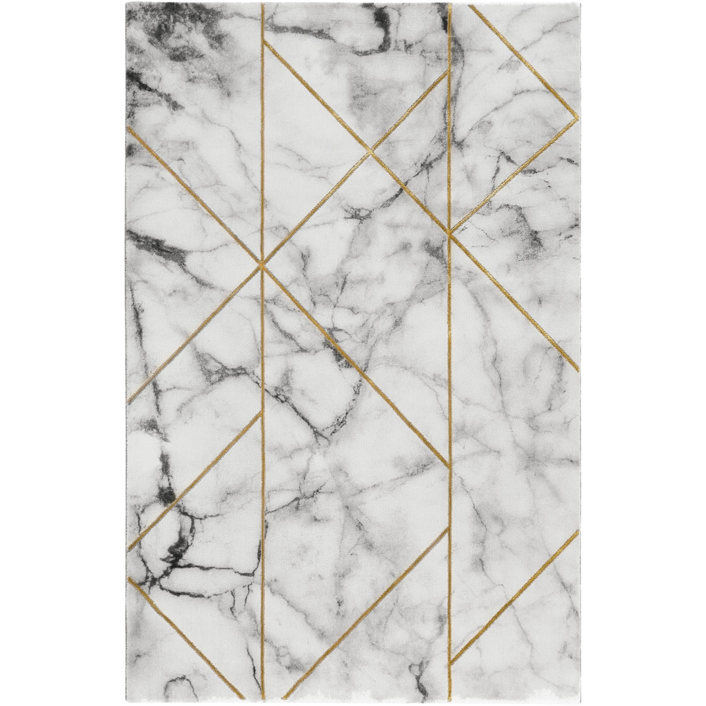 Wecon home Teppich »#M.A.R.B.L.E & G«, rechteckig, 12 mm Höhe, Marmor Struktur, Kurzflor, Wohnzimmer