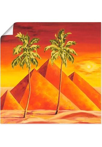 Artland Wandbild »Pyramiden mit Palmen«, Gebäude, (1 St.), in vielen Größen &... kaufen