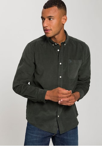 Rhode Island Langarmhemd, in Cordoptik kaufen