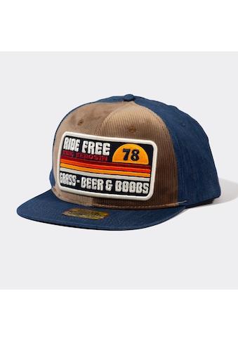 KingKerosin Snapback Cap »Ride Free«, aus Denim mit Cord-Front kaufen