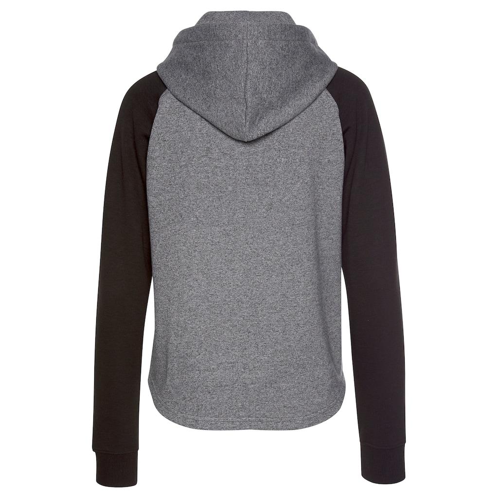 Bench. Kapuzensweatshirt, mit farblich abgesetzten Ärmeln und Logodruck