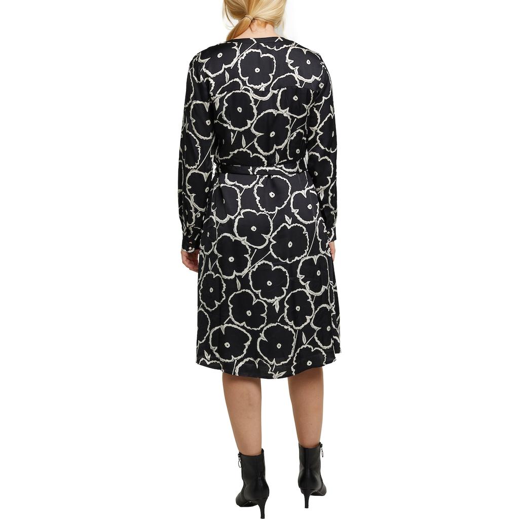 Esprit Collection Blusenkleid, in Wickeloptik und in floralem Allover-Design