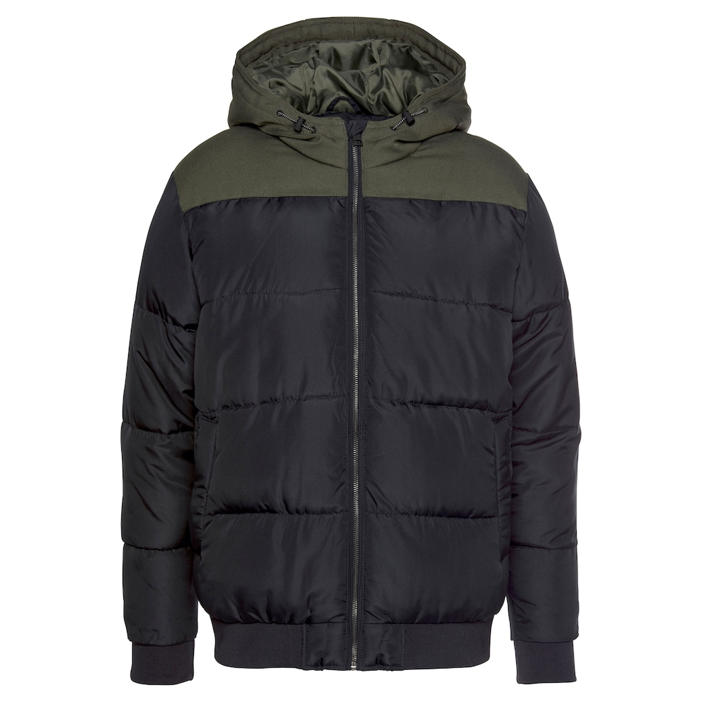 ONLY & SONS Steppjacke »BOSTON QUILTED BLOCK HOOD«