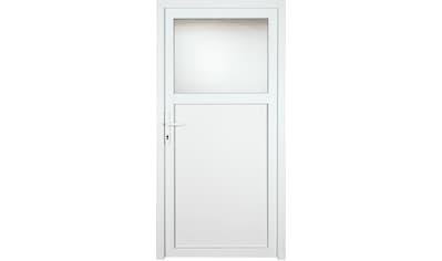 KM Zaun Nebeneingangstür »K601P«, BxH: 108x208 cm cm, weiß, links kaufen