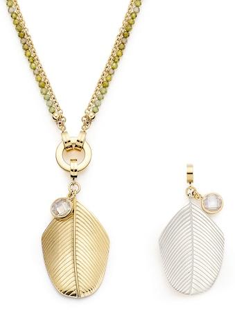 LEONARDO Kette mit Einhänger »Maila Clip&Mix, 019694«, (Set, 3 tlg.), mit Kristallglas - mit Zirkonia-Perlen (synth.) kaufen