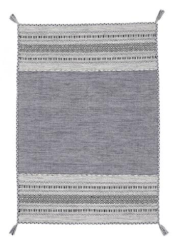 carpetfine Teppich »Kelim Azizi«, rechteckig, 5 mm Höhe, Baumwolle, Wendeteppich mit Fransen, Wohnzimmer kaufen