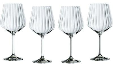 Nachtmann Cocktailglas »Optic«, (Set, 4 tlg.), Gin Tonic, Kristallglas, 640 ml kaufen