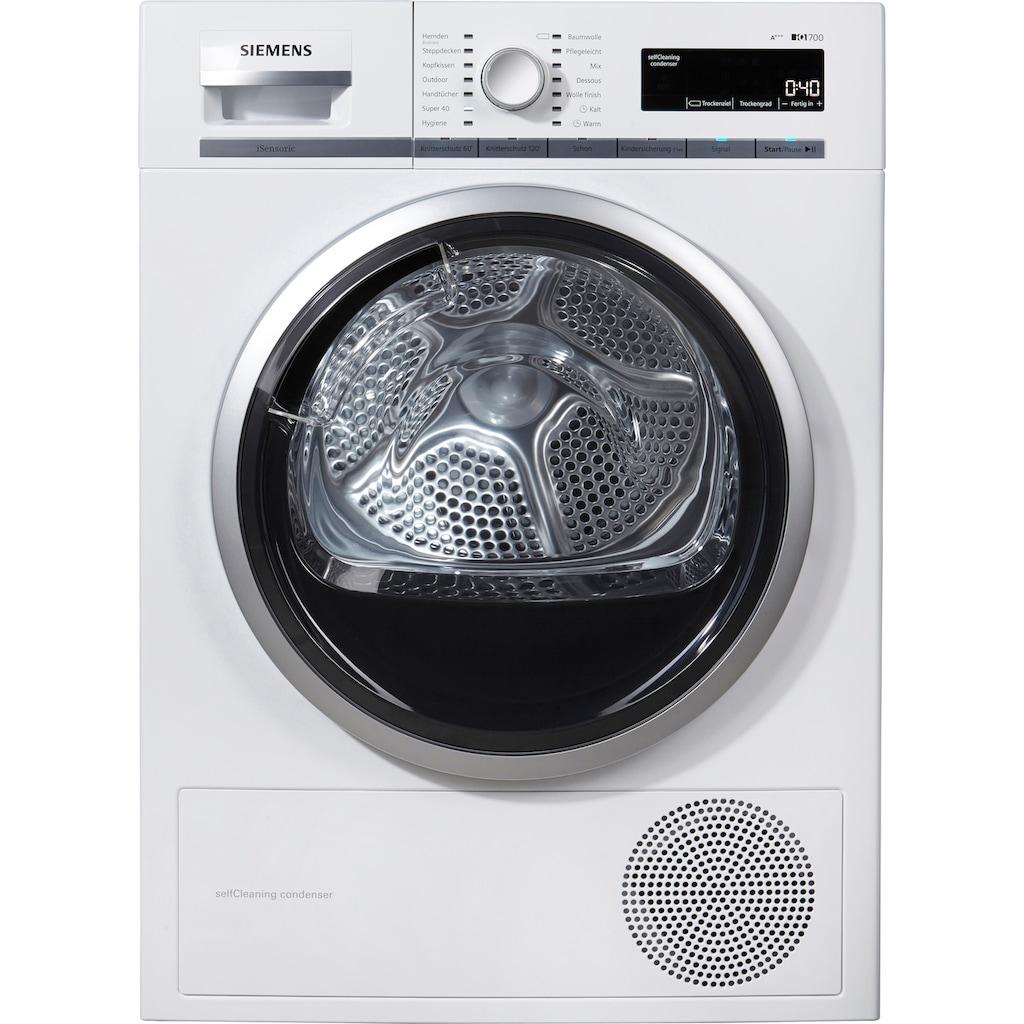 SIEMENS Wärmepumpentrockner »WT47W5W0«, iQ700, 8 kg
