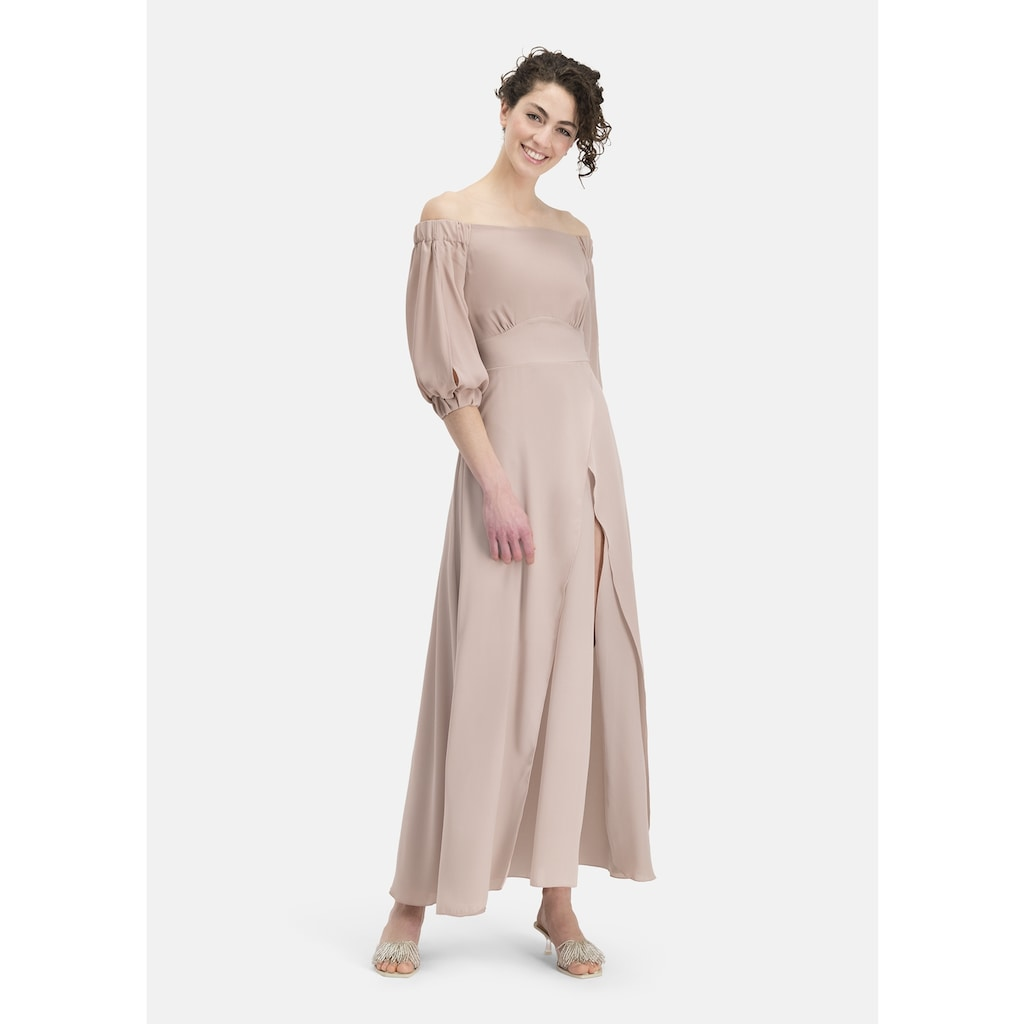 Nicowa Off-Shoulder-Kleid »GABINO«, mit unifarbenem Stoff - GABINO