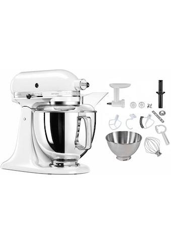 KitchenAid Küchenmaschine »5KSM175PSEWH Artisan«, inkl. Sonderzubehör im Wert von ca.... kaufen