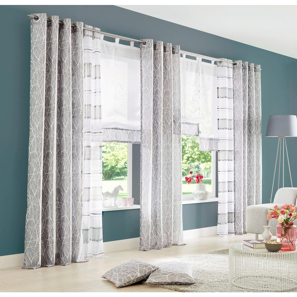 my home Gardine »Camposa«, Vorhang, Fertiggardine, transparent