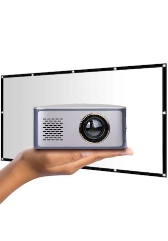 LA VAGUE Mini-Beamer »LV-HD120 inkl. Leinwand«, (1000:1), Projektor mit LCD- und... kaufen