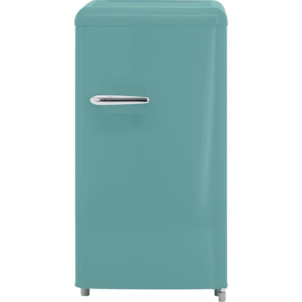 exquisit Table Top Kühlschrank »RKS 100-16 RVA++«, Retro