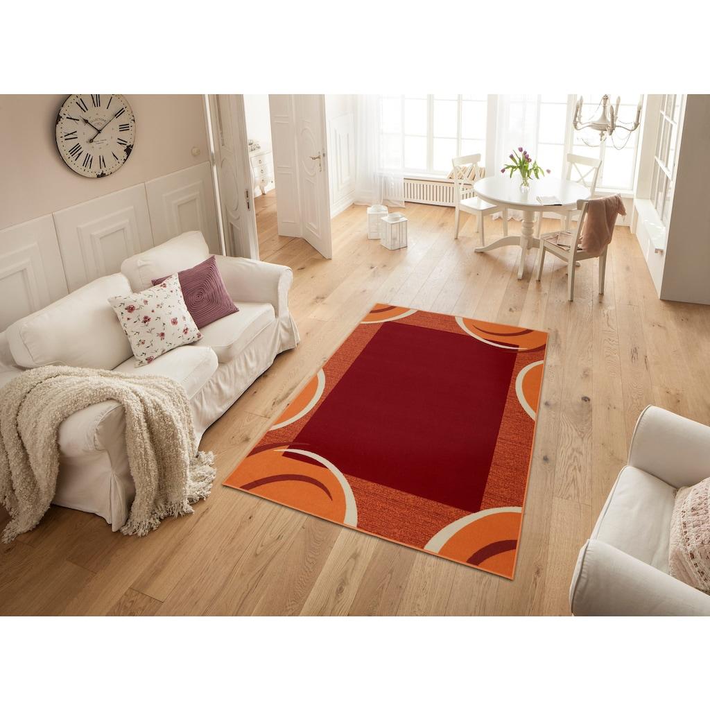 THEKO Teppich »Loures«, rechteckig, 6 mm Höhe, Kurzflor, mit moderner Bordüre, Wohnzimmer