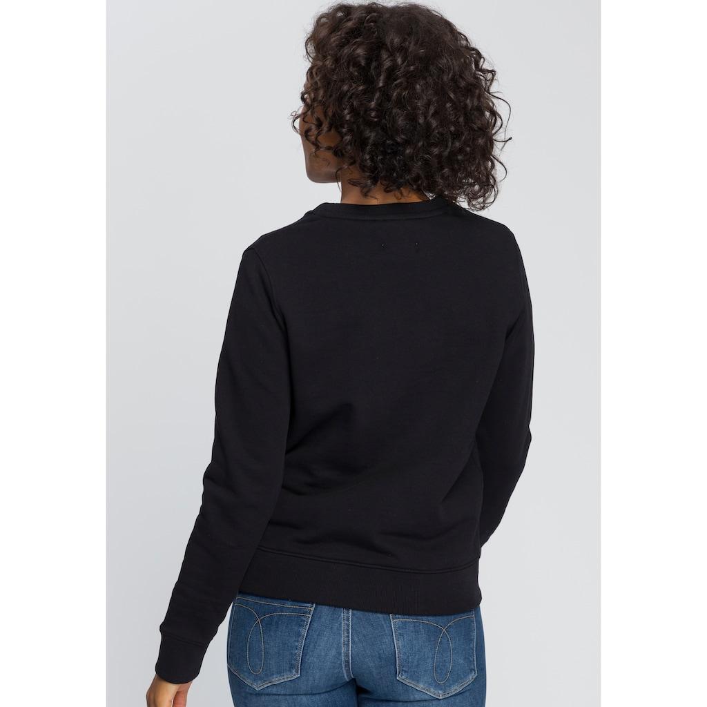 Calvin Klein Sweatshirt »LS CORE LOGO HWK«, mit Calvin Klein Logo-Schriftzug