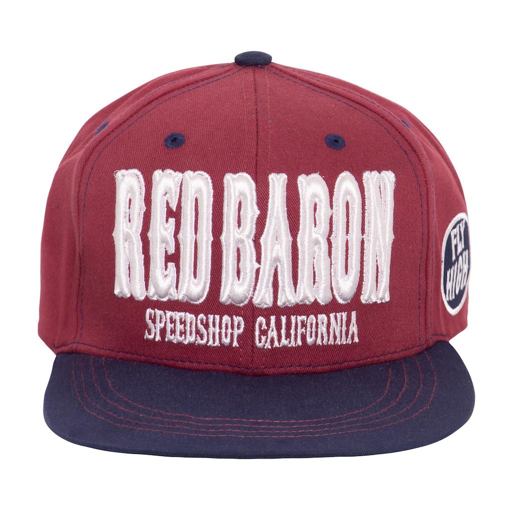 KingKerosin Flat Cap »Red Baron«, mit cooler 3D-Stickerei und Print
