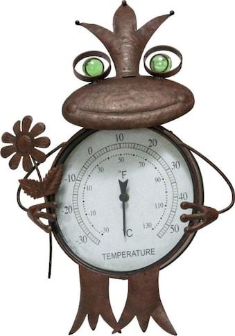 Schneider Gartenfigur »Frosch«, Thermometer, Rost kaufen