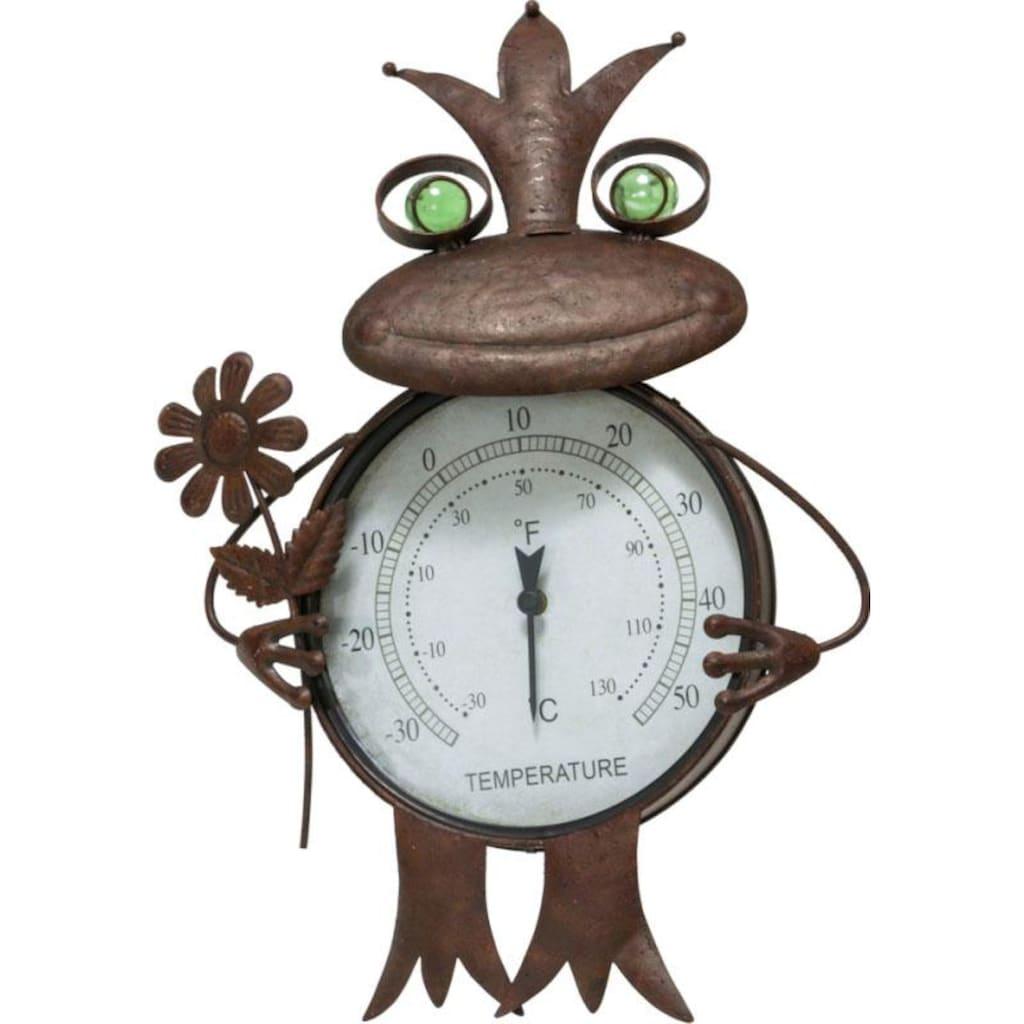 Schneider Gartenfigur »Frosch«, Thermometer, Rost