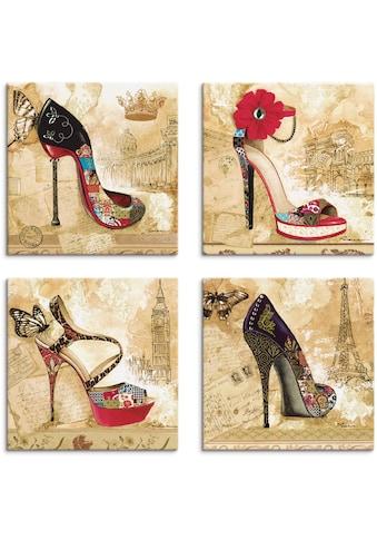 Artland Leinwandbild »Veränderliche Zeiten Stiletto«, Mode, (4 St.) kaufen