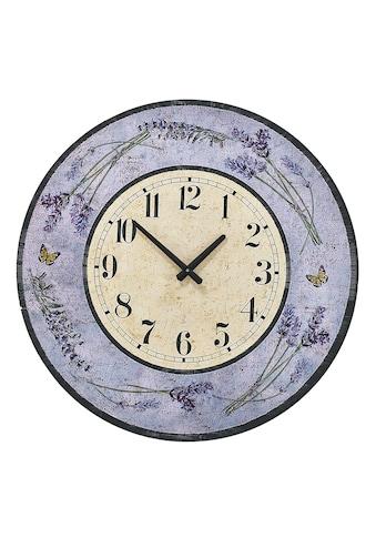 Wanduhr mit dekorativem Lavendel-Motiv kaufen