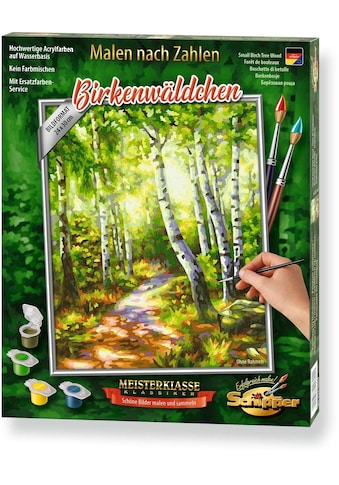 """Schipper Malen nach Zahlen """"Meisterklasse Klassiker  -  Birkenwäldchen"""" kaufen"""